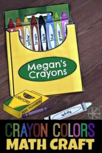 Crayon Colors Math Craft for Kids
