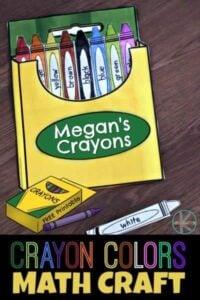 Crayon Colors Math Craft for Kids