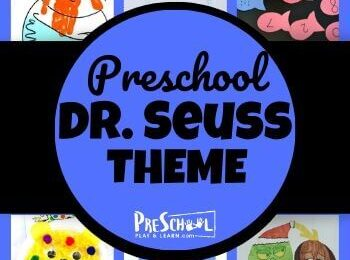 So many fun, clever activities to celebrate Dr Seuss Birthday on March 2nd. This Dr. Seuss Preschool Theme includes crafts, math, literacy, and more! #drseuss #preschool #preschoolthemes #kindergarten