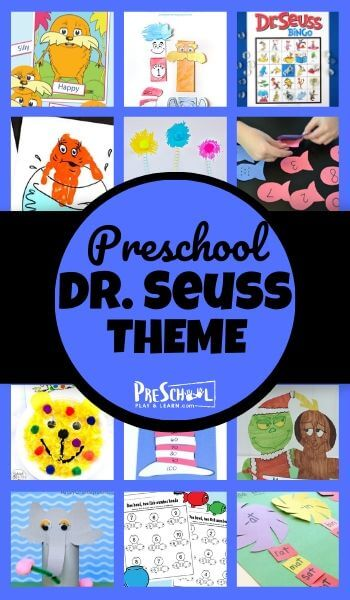 Let's celebrate Dr. Seuss Day with a fun Dr Seuss Theme! You and your kids will love learning with some of your favorite Dr Seuss books like Red Fish BLue Fish, The Lorax, the Cat in the Hat, Green Eggs & Ham, plus so many more! Use these dr seuss preschool activities to sneak in some cute dr seuss preschool crafts or some engaging dr seuss math activities. We have so many fun ideas to add to your dr seuss lesson plans preschool, toddler, pre-k, kindergarten, first grade, and 2nd grade too.