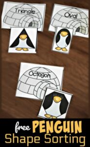 Penguin Shape Sorting Activity