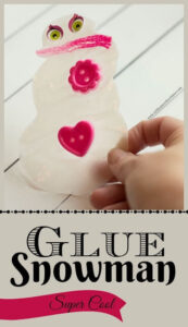 glue snowman craft for kids