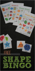 FREE Shapes Bingo Game