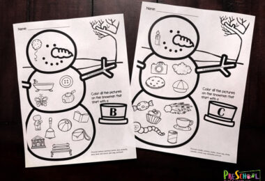 free printable snwoman worksheets for toddler, preschool, and kindergarten age kids