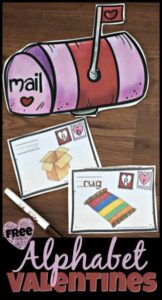 FREE pritnable alphabet activity for valentines day