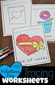 Valentinrs Day Tracing Pages
