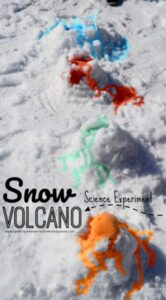 Snow Volcano - Clever winter science experiment for kids of all ages