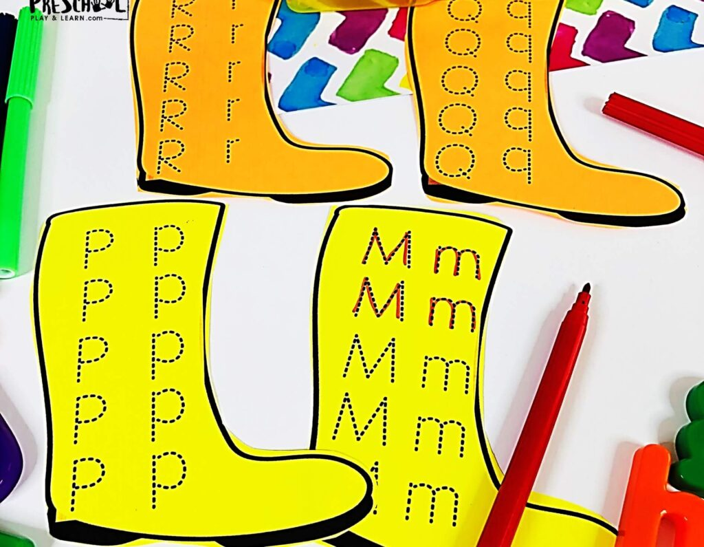 Sneak in this fun educational, preschool spring activity to help kids work on letter formation in april