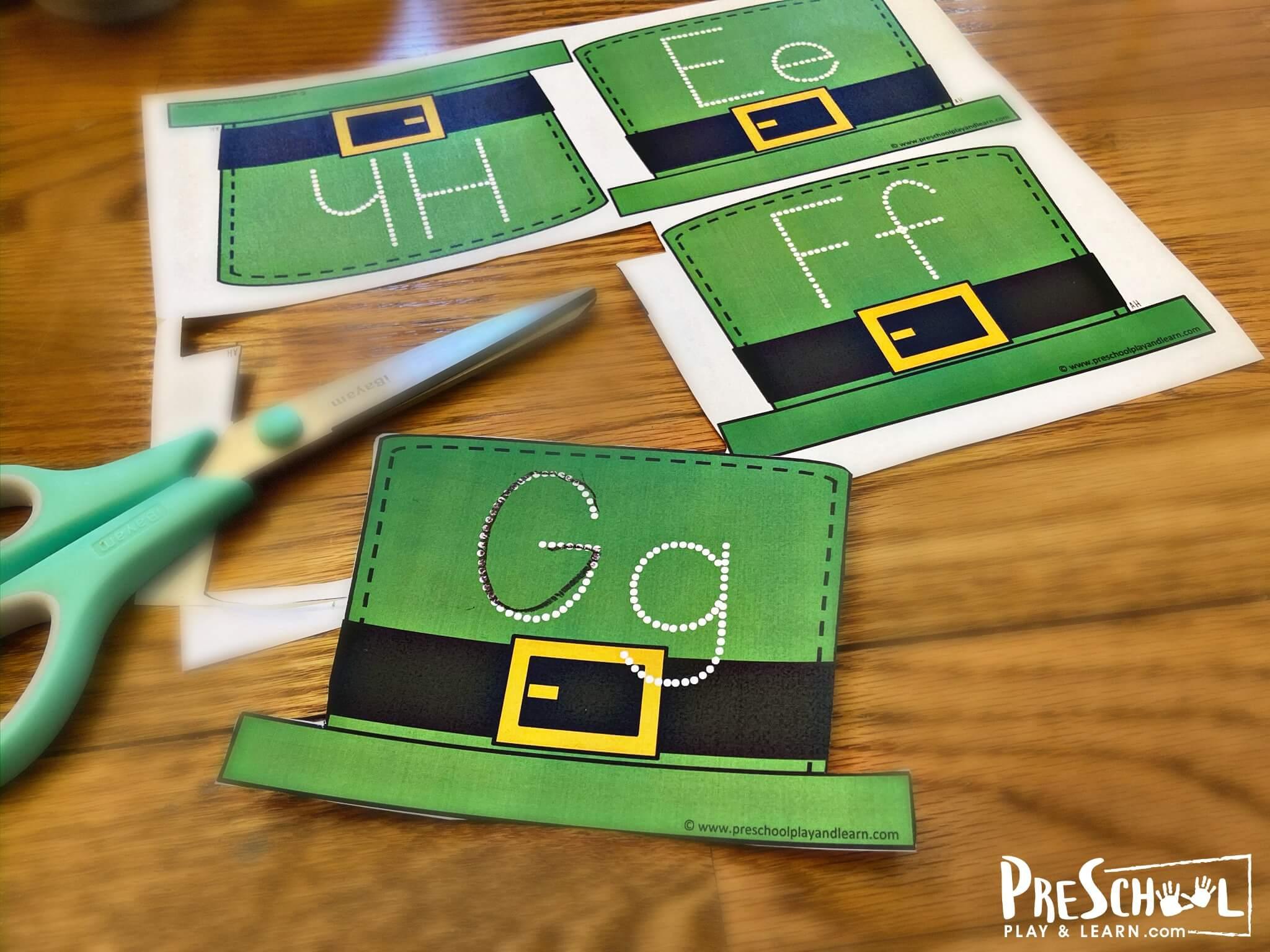 st patricks day activities for toddlers, preschoolers, kindergartners