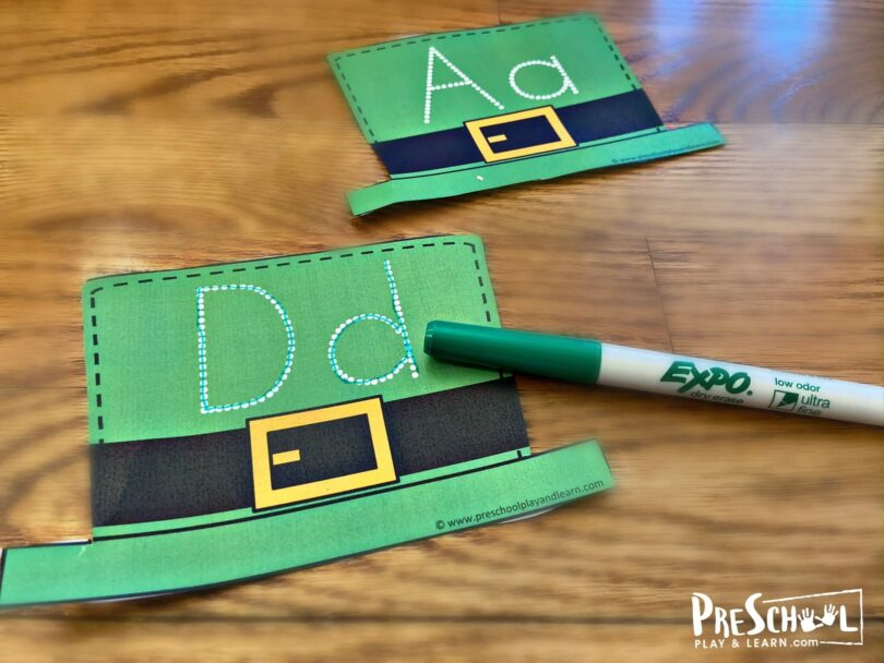 free st patricks day printables for teaching kids to form their upper and lowercase letters