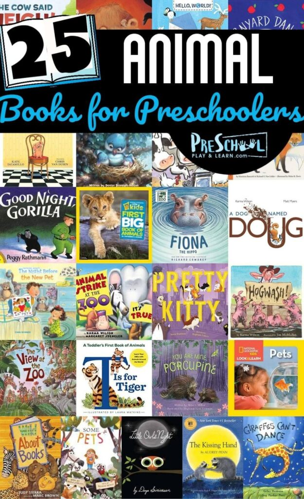 Whether you are planning an animal theme or just looking to pick out some amazing books for kids .... you will love these Animal Books for Preschoolers.