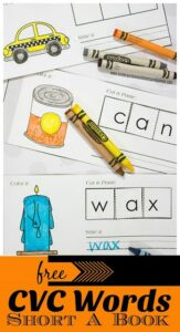 Cut and Paste CVC Words Printables