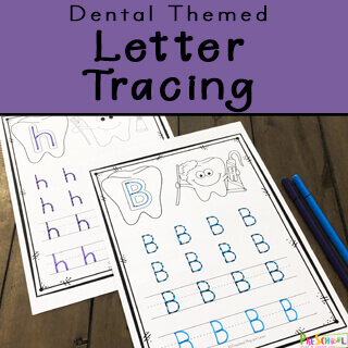 free printables perfect for a dental theme preschool; add to literacy center