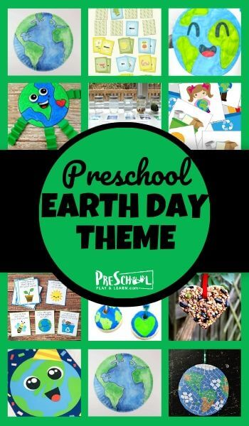 Earth Day Theme - lots of fun earth day activities for preschoolers including educational activities to learn about math and literacy as well as earth day crafts and free earth day printables for toddler, preschool, prel, and kindergarten age kids. Perfect for celebrating earth day with kids this april 22nd #earthday #preschool #prek