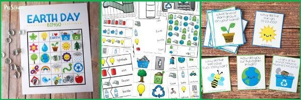 earth day printables for preschool and kindergarten age kids to learn while having fun this april