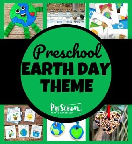 earth day theme for preschoolers with lots of clever, educational activites