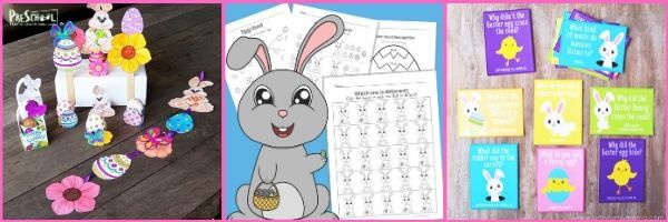 free easter printables for making learning fun in April with preschool