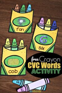 FREE Crayon CVC Words Activity