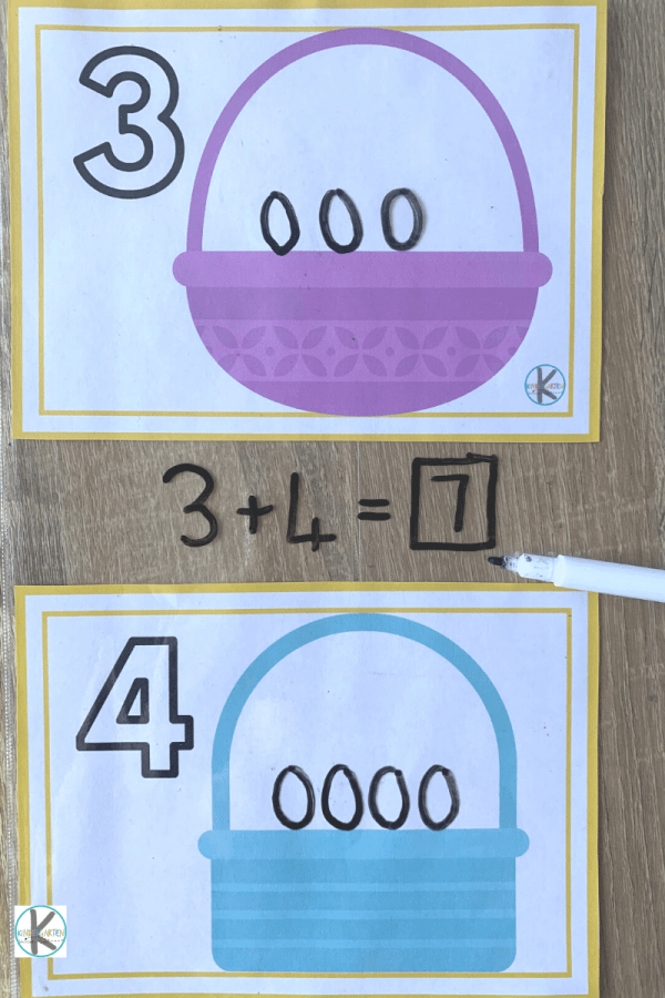 practice counting, addition, missing numbers, adding on, and more with these numbers mats. the perfect spring math activities for preschoolers