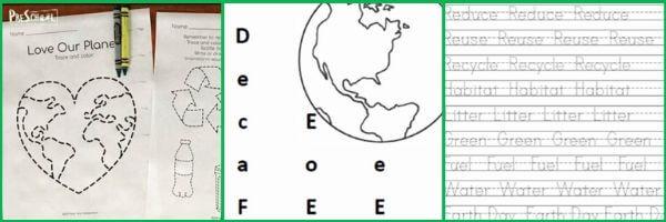 fun, engaging earth day langauge arts activities to improve literacy with prek and kindergartners