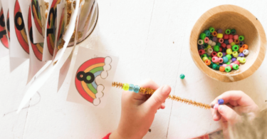 preschool math is fun with hands on counting and threading activity for march, april, and may