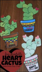 FREE Printable Valentiens Day craft for kids