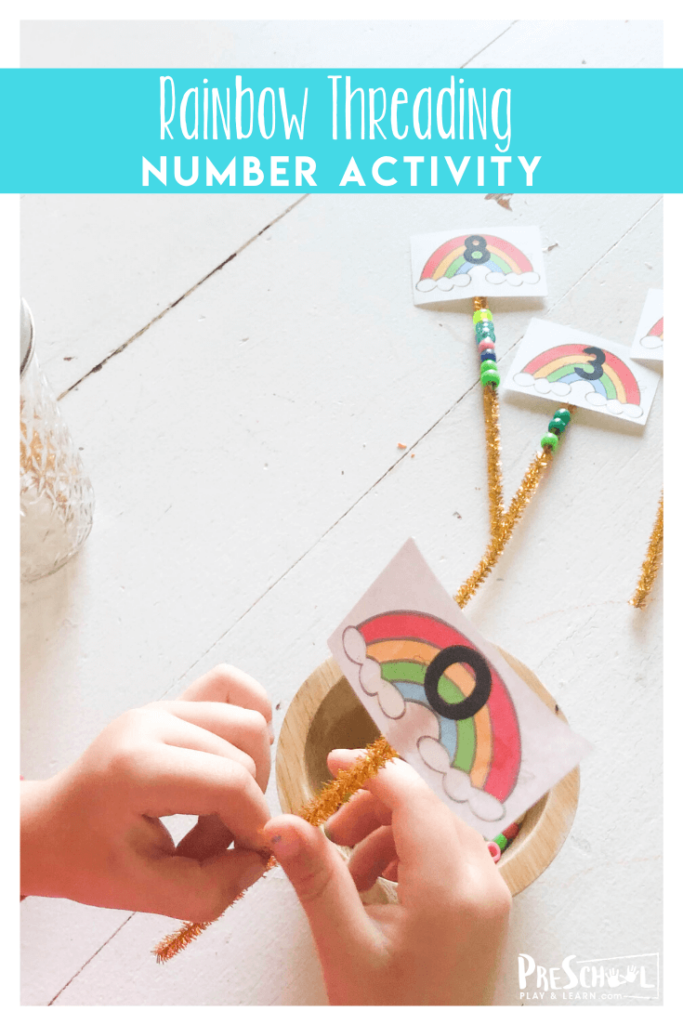 fun math rainbow activity for toddler, preschool, pre k, and kindergarten age kids