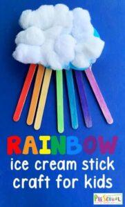 craft stick rainbow craft