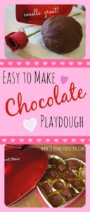 valentines day chocolate playdough recipe