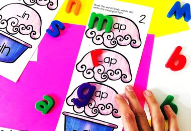 cvc words activity perfect for summer learning activity to improve the ability for preschool, pre k, and kindergarten age students to decode words and work on reading readiness while having FUN