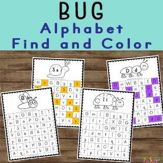 Bug themed letter find Preschool Printables
