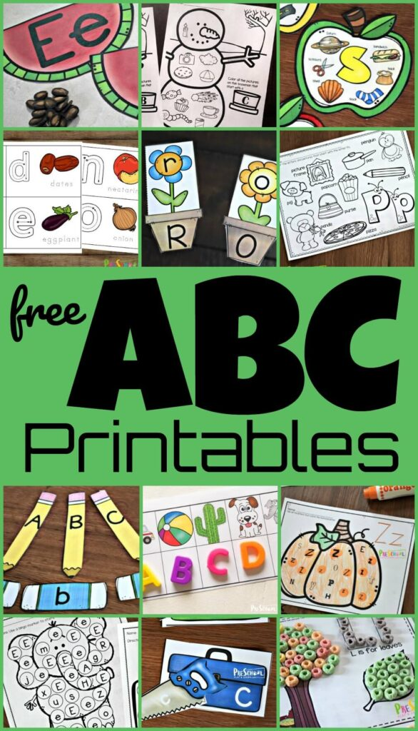 FREE ABC Printables -make learning letters fun with these alphabet worksheets, alphabet printables, letter crafts, alphabet tracing, letter matching, find the letter, puzzles, abc games, and more for toddlers, preschoolers, and kindergartners. So many fun hands on educational activities for all year long! #alphabet #abcprintables #preschool #prek