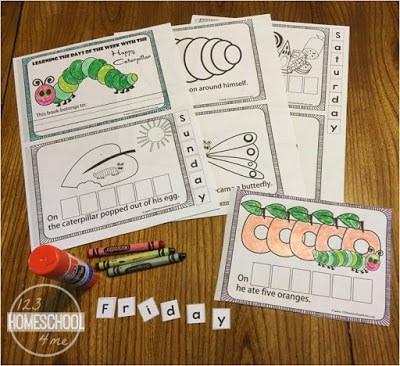 Days of the Week Emergent Reader for preschoolers and kindergartners