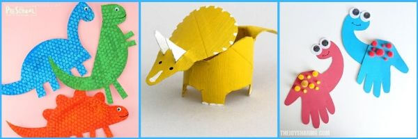 several fun dinosaur crafts for preschoolers