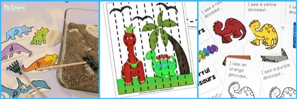 dino litearcy activities for young learners
