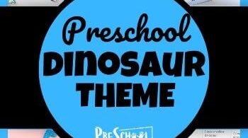 Dinosaur Preschool Theme - tons of fun, clever, hands-on and educational activites for toddler, preschool, pre k, and kindergartners to learn about math, litearcy and more with dinosaur crafts, dinosaur activities, and printables.