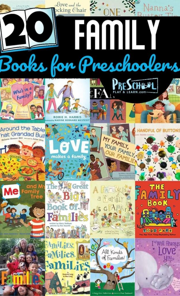 20 Family Books for Preschoolers - Help kids celebrate the important role families play in our lives with these fabily books for preschoolers, toddlers, and kindergarteners.