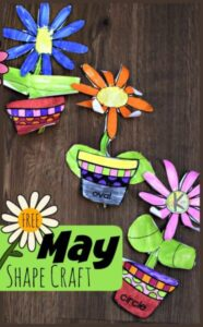 free printable flower math craft to work on shapes