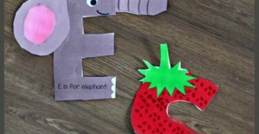 Kids will have fun learning their alphabet letters with these super cute and FREE printable printable alphabet letters for crafts. This alphabet activity not only helps with letter recognition for toddler, preschool, pre k, kindergarten, and first grade learning their ABCs, but it is great for strengthening fine motor skills, coordination, and hand muscles children will need when they begin to write. There is a cute alphabet craft for every uppercase letter from A to Z.
