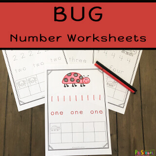 super cute Counting Bugs activity perfect for an insect theme preschool theme