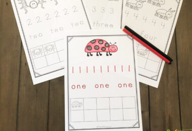 free printable Tracing Number Worksheets perfect for spring learning