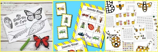bees and insects printables