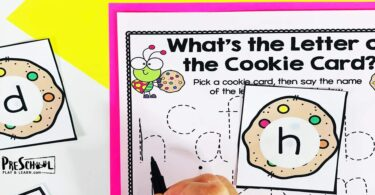 cookie theme letter tracing worksheets for preschool, pre k, kindergarten age students