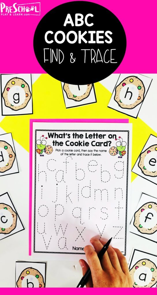 Kids will have so much fun working on Lowercase Letter Tracing with this fun alphabet cookie activity for young learners.