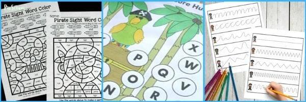 Pirate Literacy Activities