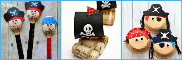 pirate crafts - tons of cute pirate craft ideas for toddler, preschool, pre k, kindergarten, and first grade kids