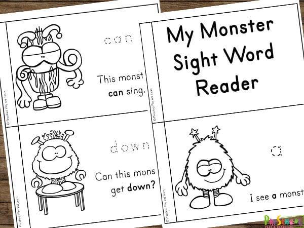 FREE Monster Sight Word Reader