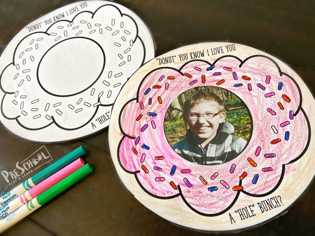 super cute, free printable, Donut Fathers Day Crafts for Preschoolers