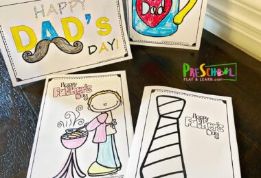 11 different super cute, free printable Happy Fathers Day Card