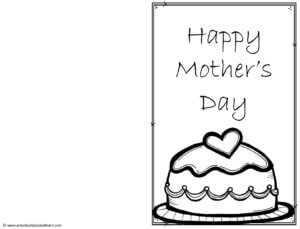 Mothers day cake card for Mama